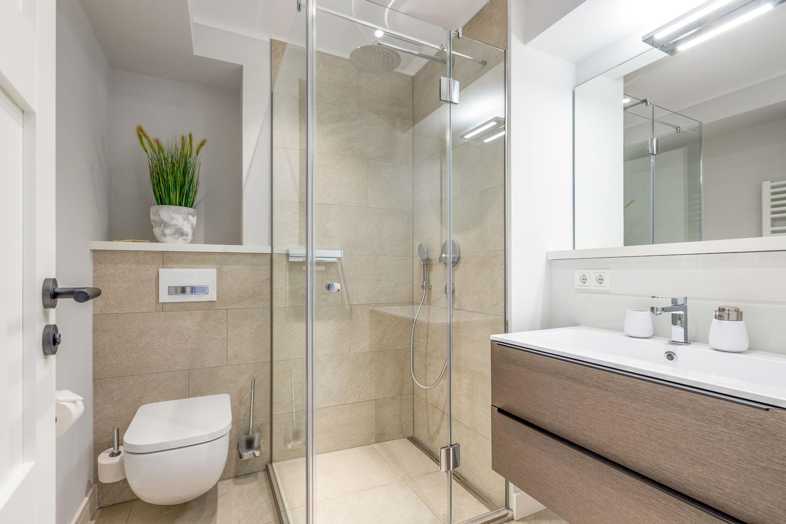 Sylter Stadtperle Wohnung Seepferdchen modernes Bad