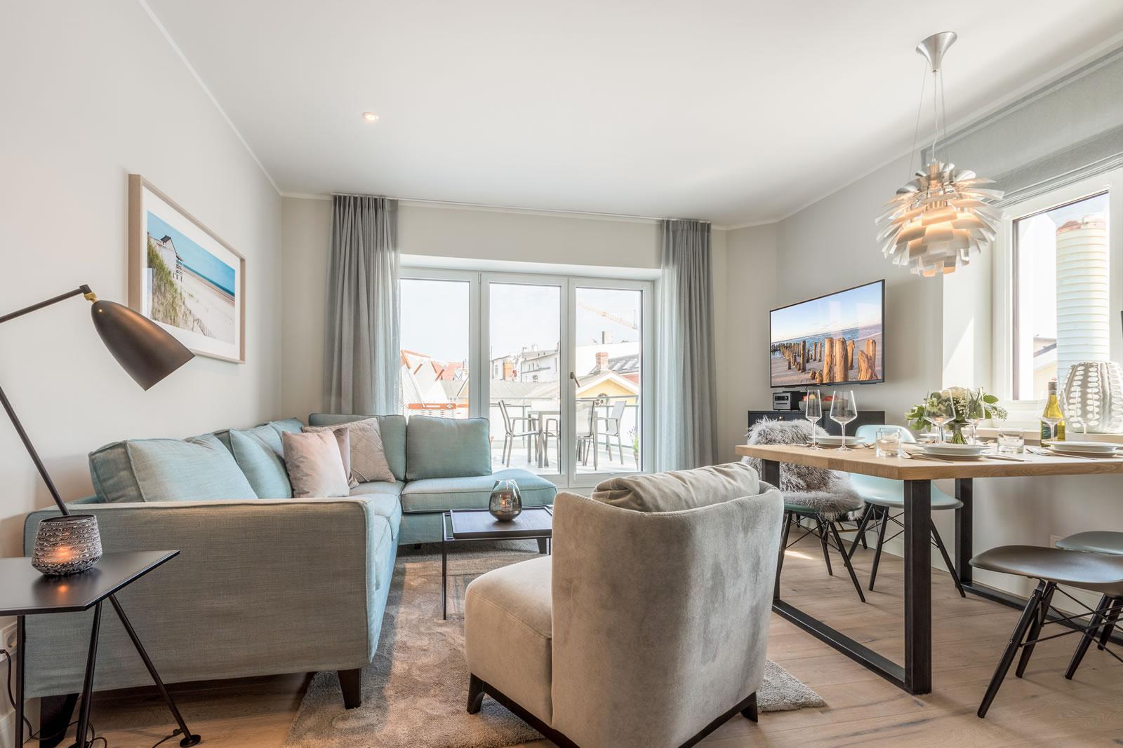 Sylter Penthouse Wohnung Wohnzimmer