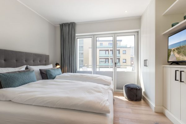 Sylter Penthouse Wohnung helles Schlafzimmer
